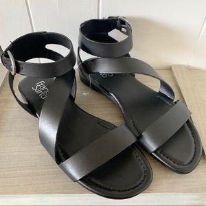 Franco Sarto Black Sandals Size 7.5